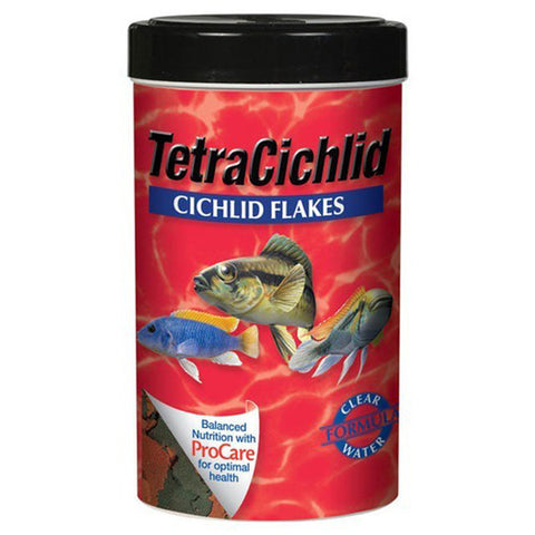 Tetra Usa Inc. - Cichlid Flakes Fish Food Large - 2.82 oz. (80 g)