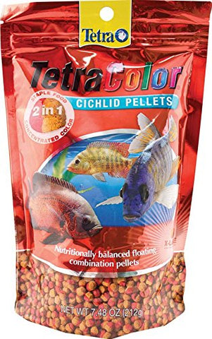 TETRA - TetraColor 2-in-1 X-Large Cichlid Food Pellets