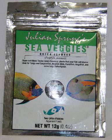 Two Little Fishies -  Sea Veggies Green Seaweed - 0.4 oz. (12 g)