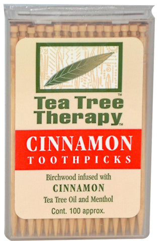 Tea Tree Therapy Cinnamon Toothpicks