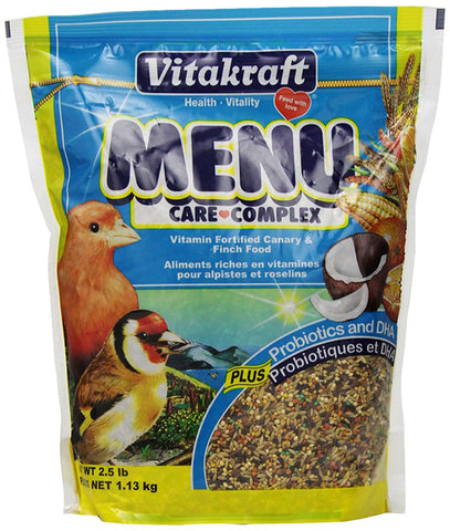 VITAKRAFT - Menu Vitamin Fortified Canary & Finch Food
