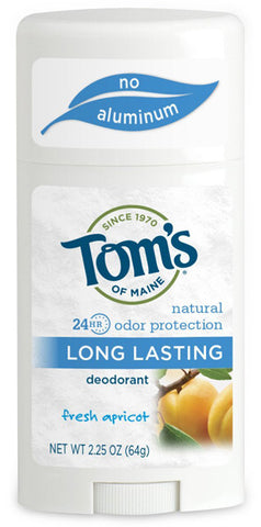 Toms Of Maine Long Lasting Care Deodorant Stick Apricot