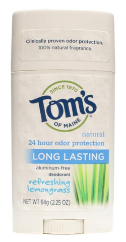 Toms Of Maine Long Lasting Care Deodorant Stick Lemongrass