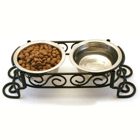 Ethical Pet Products - Mediterranean Stainless Steel Double Diner