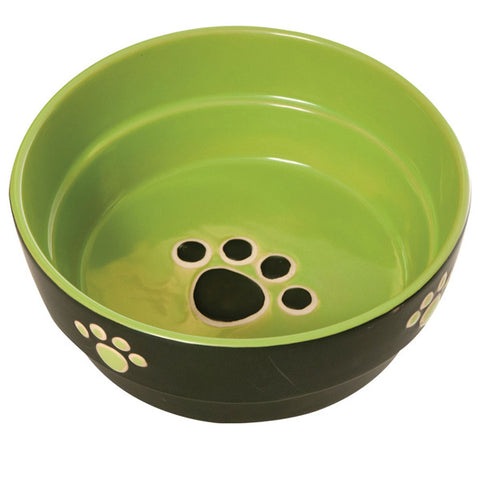 Ethical Pet Products - Stoneware Fresco Dog Dish Green