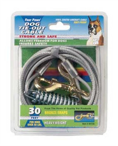 Four Paws Pet Products - Heavy Weight Tie-Out Cable Silver