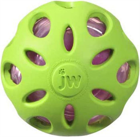 JW PET - Crackle Heads Crackle Ball Dog Toy Medium