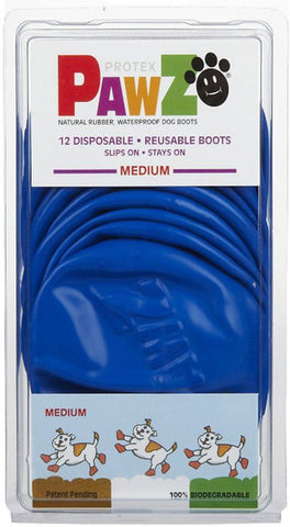 PAWZ - Dog Boots 3 Inch Medium Blue