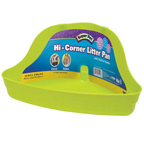 Super Pet - Hi-Corner Litter Pan - 10 x 13.75 x 6.5 Inch