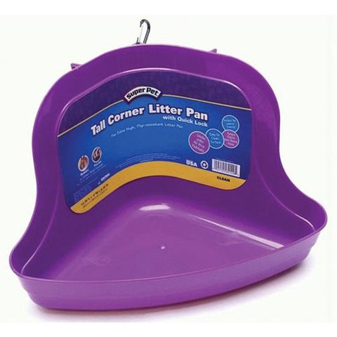 "Super Pet - Tall Corner Locking Litter Pan - 10"" x 13.75"" x 6.5"""