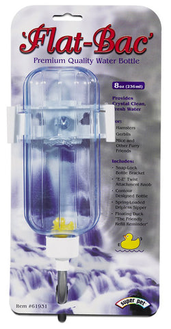 Super Pet - Flat Bac Water Bottle Hamster - 8 oz.