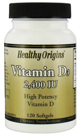 Healthy Origins Vitamin D3 2400 I U