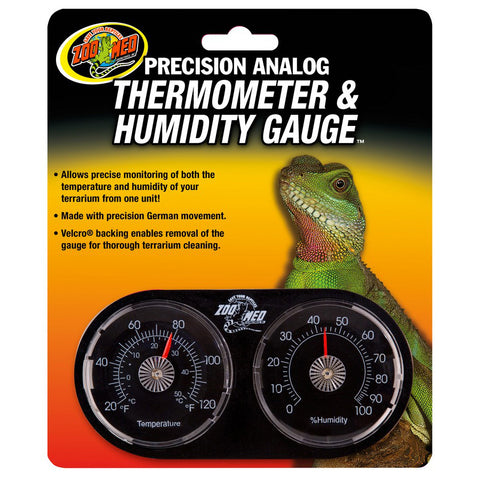 ZOO MED - Economy Analog Dual Thermometer and Humidity Gauge