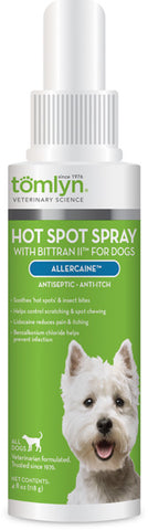 TOMLYN - Allercaine Antiseptic Anti-Itch Spray for Dogs