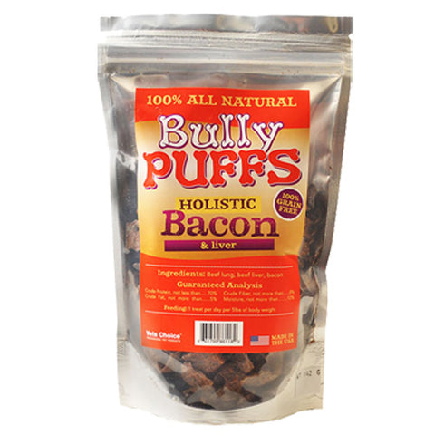 Health Extension Bully Puffs Bacon Dog Treats