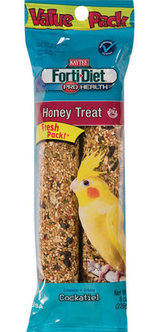 KAYTEE - Forti-Diet Pro Health Honey Treat Stick Cockatiel