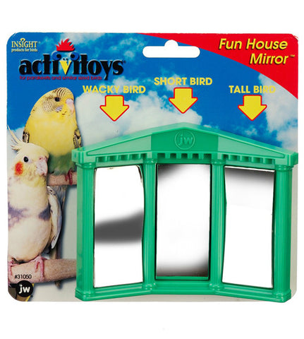 JW PET Insight Activitoy Fun House Mirror Bird Toy