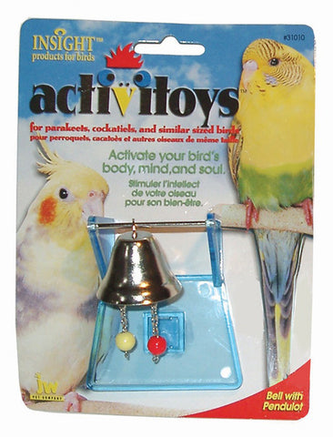 JW PET Insight Activitoy Bell with Pendulot Bird Toy