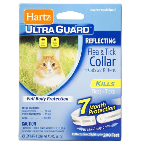 HARTZ - Ultra Guard Reflecting Flea & Tick Collar for Cats and Kittens White