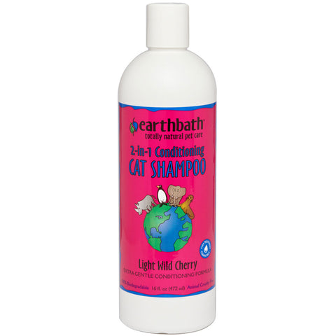 EARTH BATH - 2-in-1 Conditioning Cat Shampoo - 16 fl. oz. (472 ml)