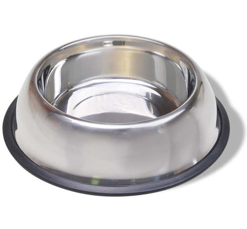 VAN NESS - Stainless Steel Non Tip Dish with Rubber Ring