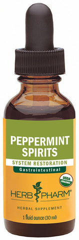 HERB PHARM Peppermint Spirits Extract and Essential Oil