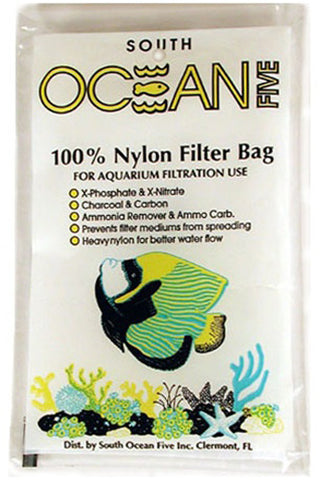 SOUTH OCEAN FIVE - Nylon Filter Bag for Aquarium Filters