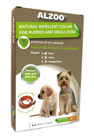 ALZOO - Natural Repellent Flea & Tick Collar for Dogs
