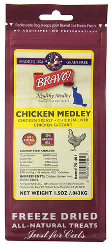 BRAVO - Healthy Medley Chicken with Organs for Cats