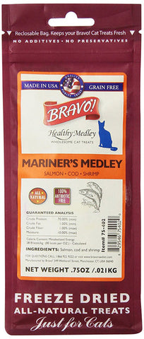 BRAVO - Mariners Medley Salmon/Cod/Shrimp Food for Cats