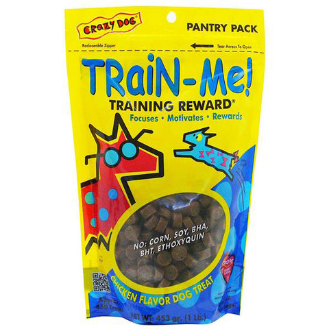 CRAZY DOG - Train-Me Training Rewards Chicken Flavor Dog Treat