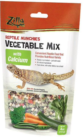 ZILLA - Reptile Munchies Vegetable Mix with Calcium