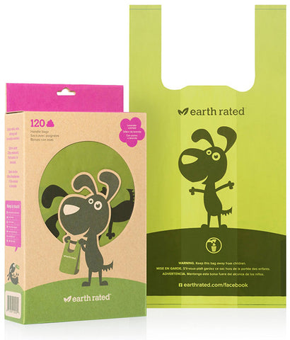 EARTH RATED - Dog Waste Bags with Easy-tie Handles Lavender-Scented