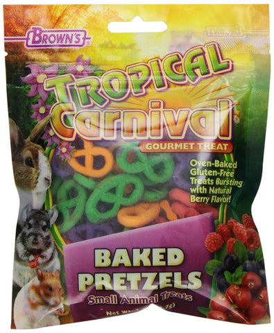 F.M. BROWN'S - Tropical Carnival Baked Pretzels Treat for Small Animals - 2 oz. (56.7 g)