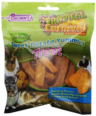 F.M. BROWN'S - Tropical Carnival Natural Sweet Potato Yummies Treat - 3.5 oz. (99.2 g)