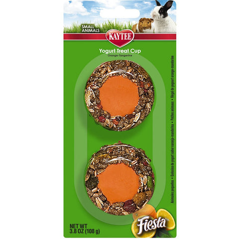 FIESTA - Yogurt Cup Orange Tangerine Treat for Small Animals