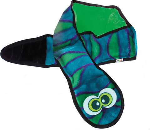 OUTWARD HOUND - Invincibles Plush Snake Blue/Green Dog Toy