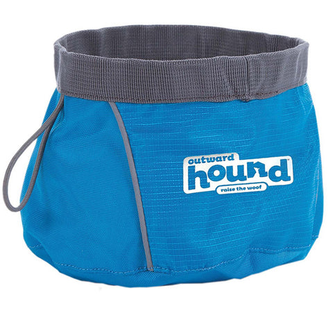 OUTWARD HOUND - Port-A-Bowl for Dogs Blue Medium
