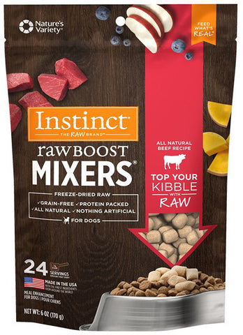 INSTINCT - Freeze-Dried Raw Boost Mixers Beef Recipe Dog Food Topper