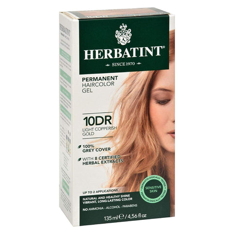 HERBATINT - Permanent Herbal Haircolour Gel 10DR Light Copperish Gold