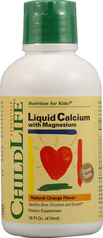 CHILD LIFE ESSENTIALS - Liquid Calcium with Magnesium - 16 fl. oz. (474 ml)