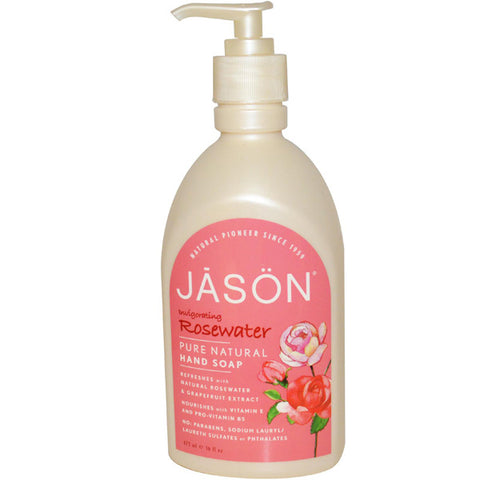 Jason Natural Glycerine Rosewater Satin Soap for Hands Face