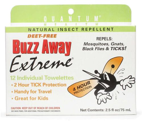 Quantum Research Buzz Away Extreme Towelettes