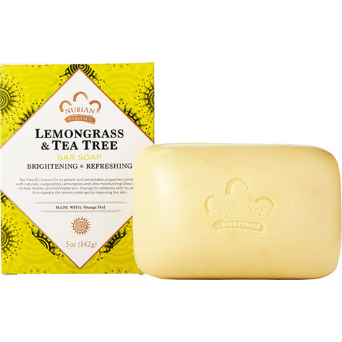 NUBIAN HERITAGE - Lemongrass & Tea Tree Bar Soap