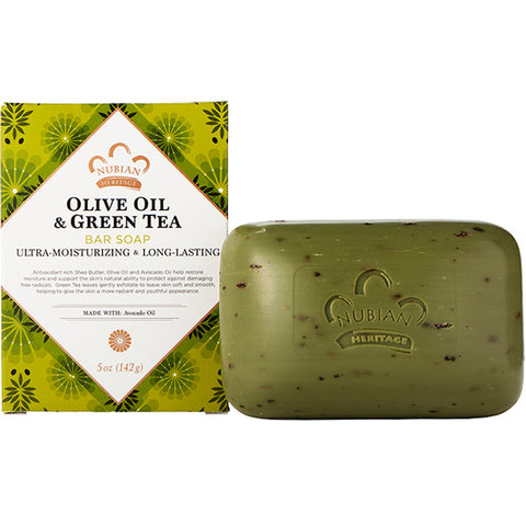 NUBIAN HERITAGE - Olive & Green Tea Bar Soap