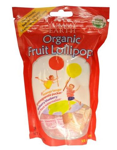 Yummy Earth Organic Lollipops Assorted Flavors