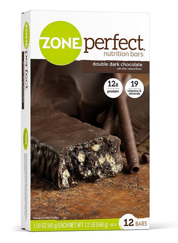 Zone Perfect Nutrition Bars Double Dark Chocolate