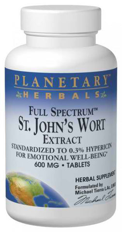 Planetary Herbals St Johns Wort Extract Full Spectrum 600 mg
