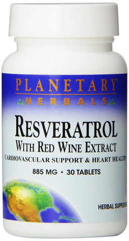 Planetary Herbals Resveratrol with Red Wine Extract