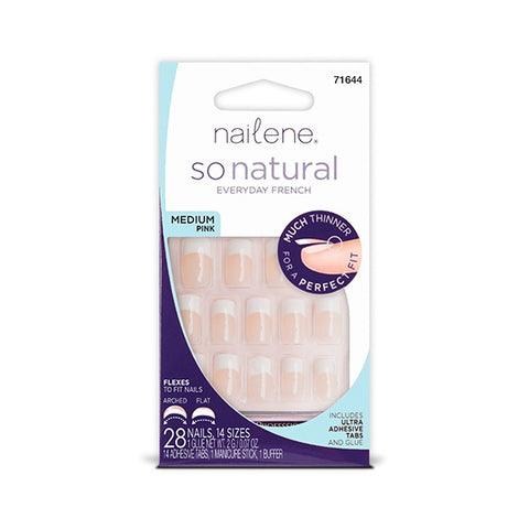 NAILENE - So Natural Ultra Flex Pink French Medium Nails